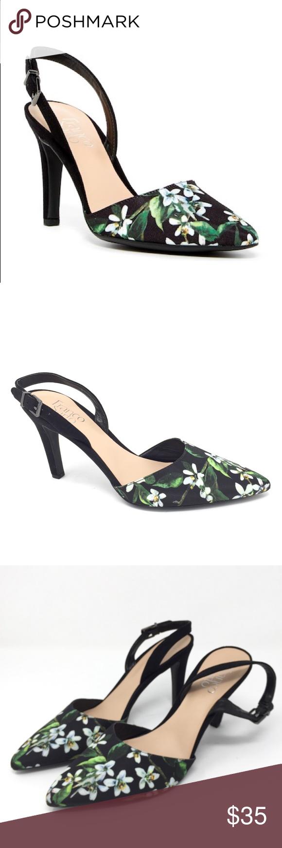 473021234bb Spotted while shopping on Poshmark  9.5M FRANCO SARTO Ablaze floral sling  back heels!  poshmark  fashion  shopping  style  Franco Sarto  Shoes