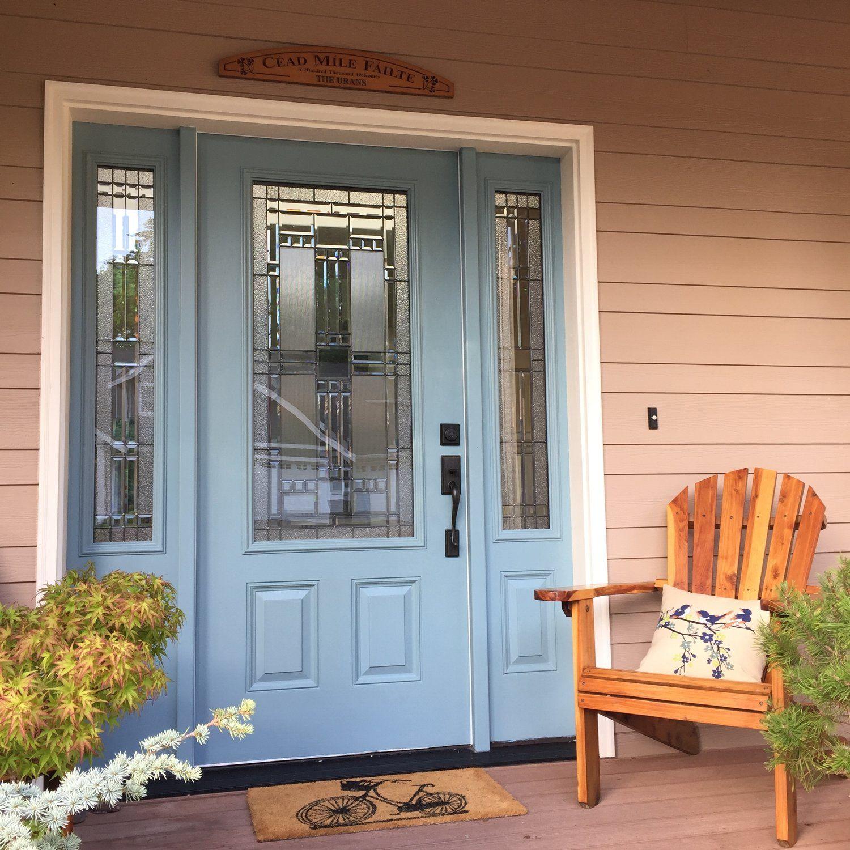 Benjamin Moore Sea Star Blue Front Door