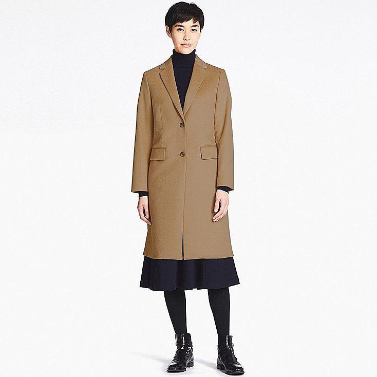 Damen Chesterfield Wollmantel Wollmantel Mantel Oberbekleidung Frauen
