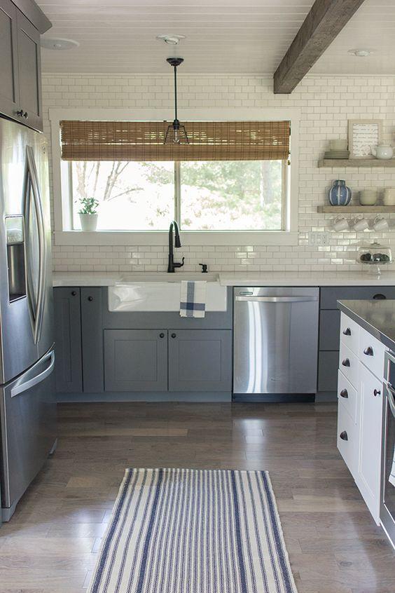 wirkung grauer Schränke mit edelstahlfronten   Küche   Pinterest ...