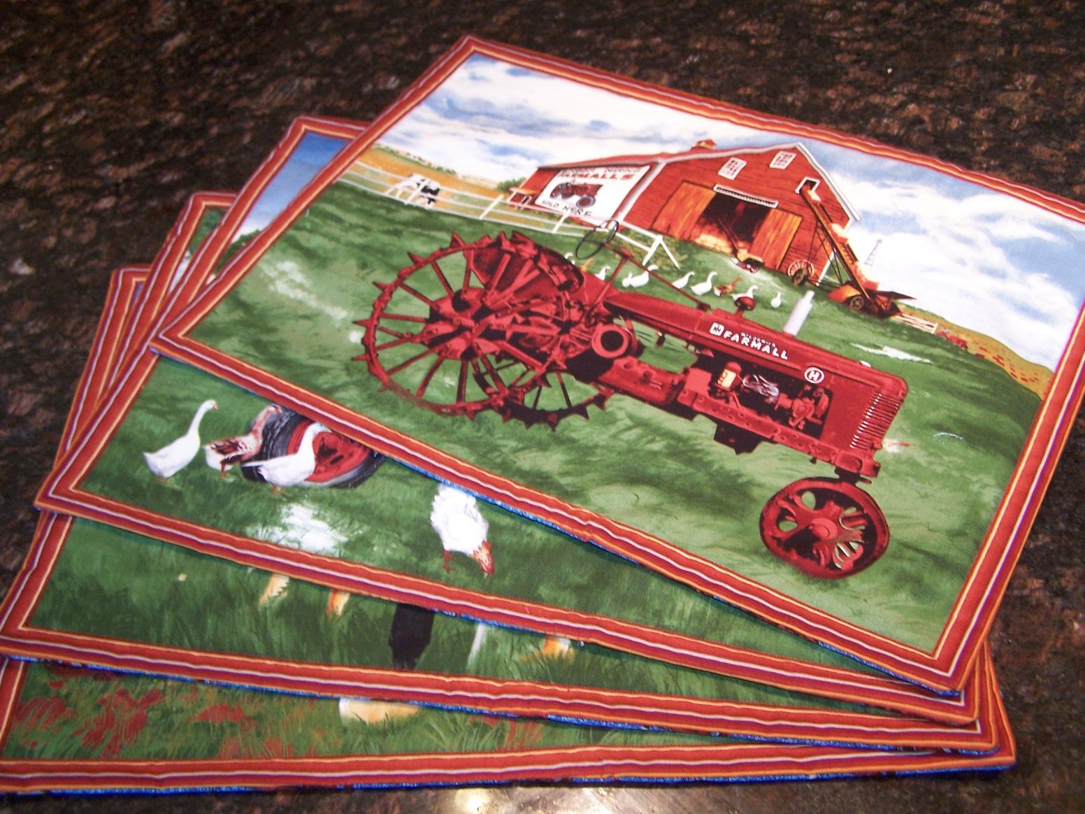 Set of four farmall placemats j d board pinterest for International harvester decor