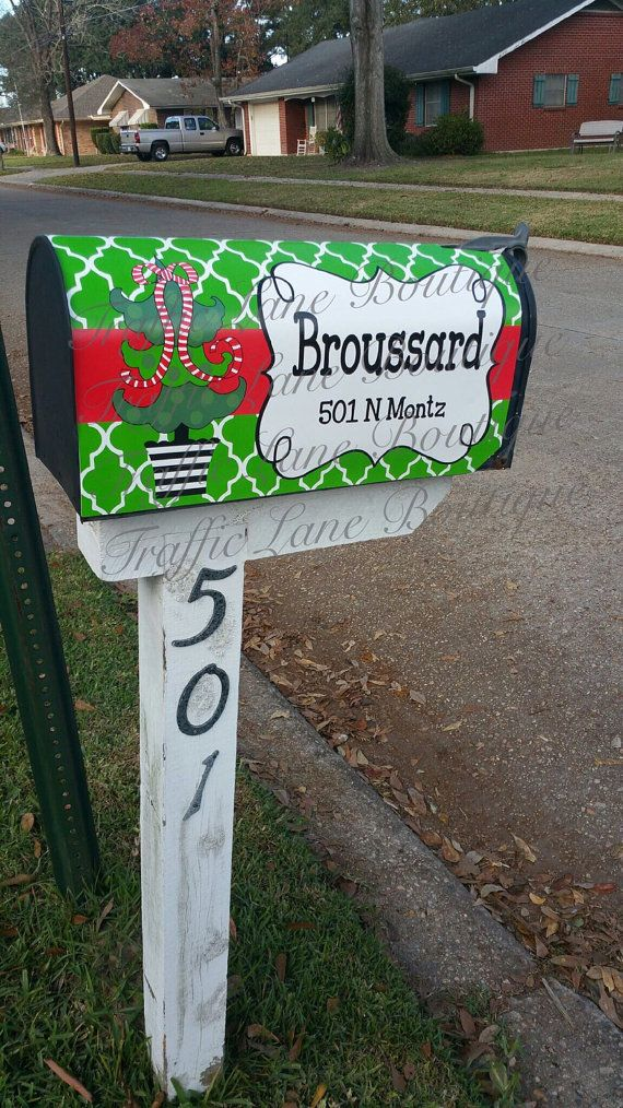 Personalized Magnetic Mailbox Covers By Trafficlaneboutique