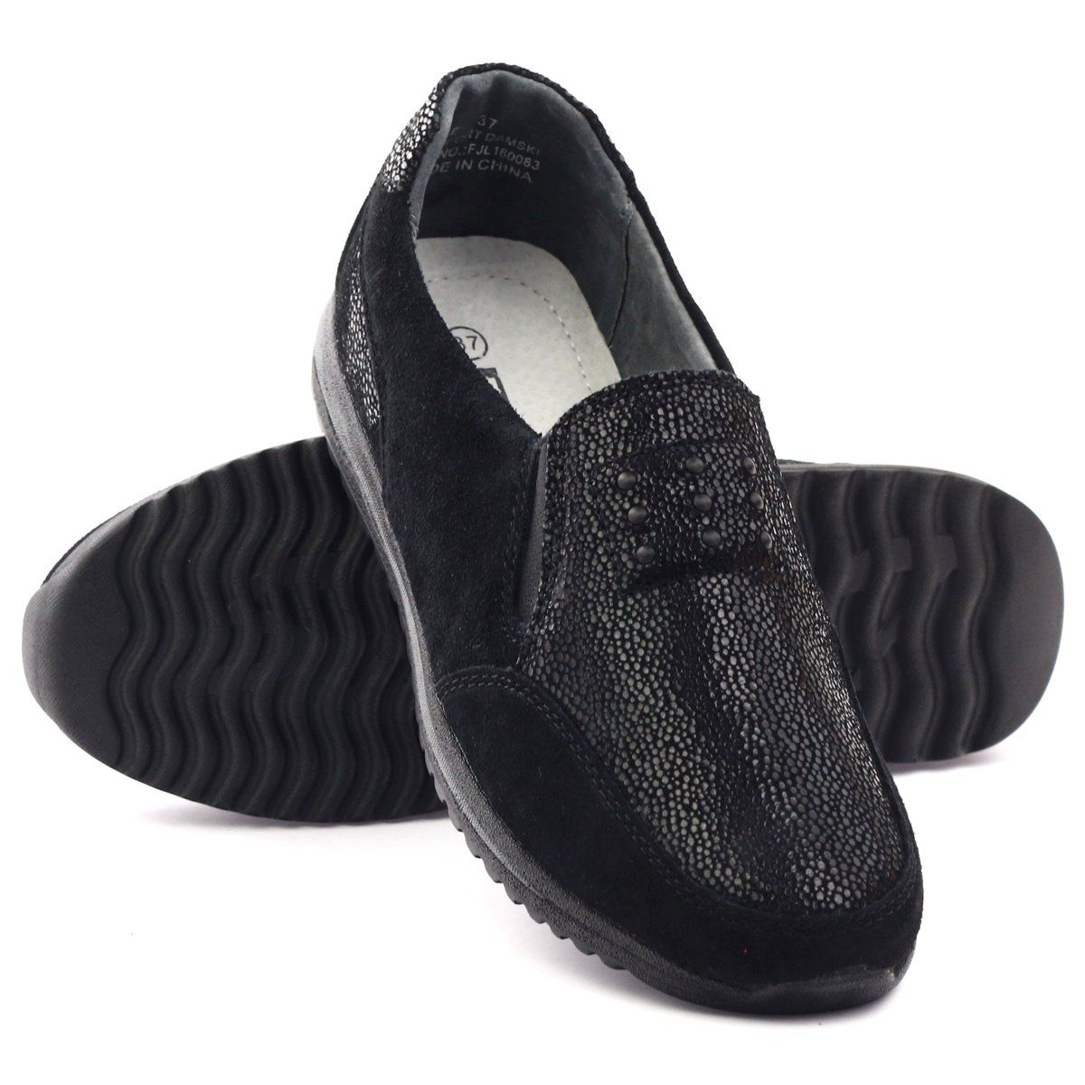 Sportowe Damskie Dk Sportowe Damskie Wsuwane Skora Dk Czarne Dress Shoes Men Loafers Men Oxford Shoes