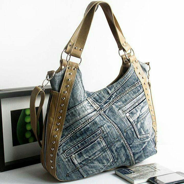 Tasche: Jeans trifft Leder