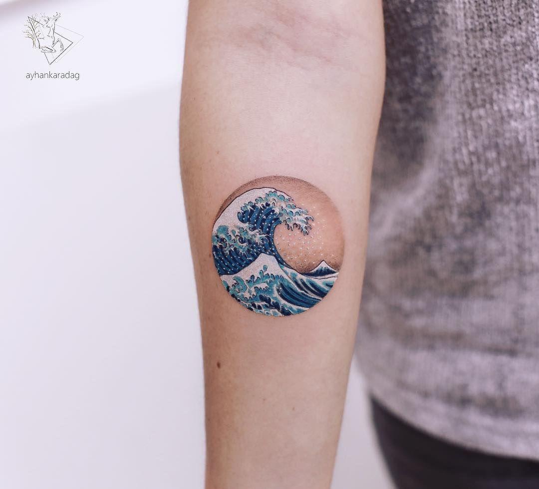 Ayhan Karadag Wave Tattoo Waves Tattoo Small Tattoos Japanese Wave Tattoos