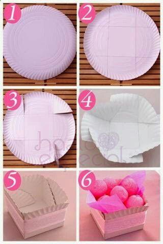 Como usar un plato de papel