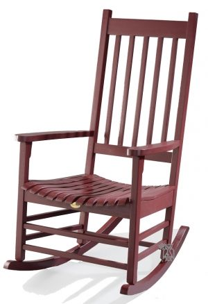 Somer S Point Solid Acacia Custom Painted Rocker In Farmhouse Red