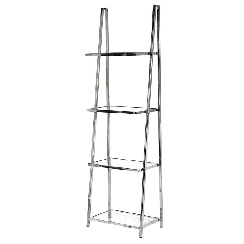 Carmine Chrome U0026 Glass Shelving Unit