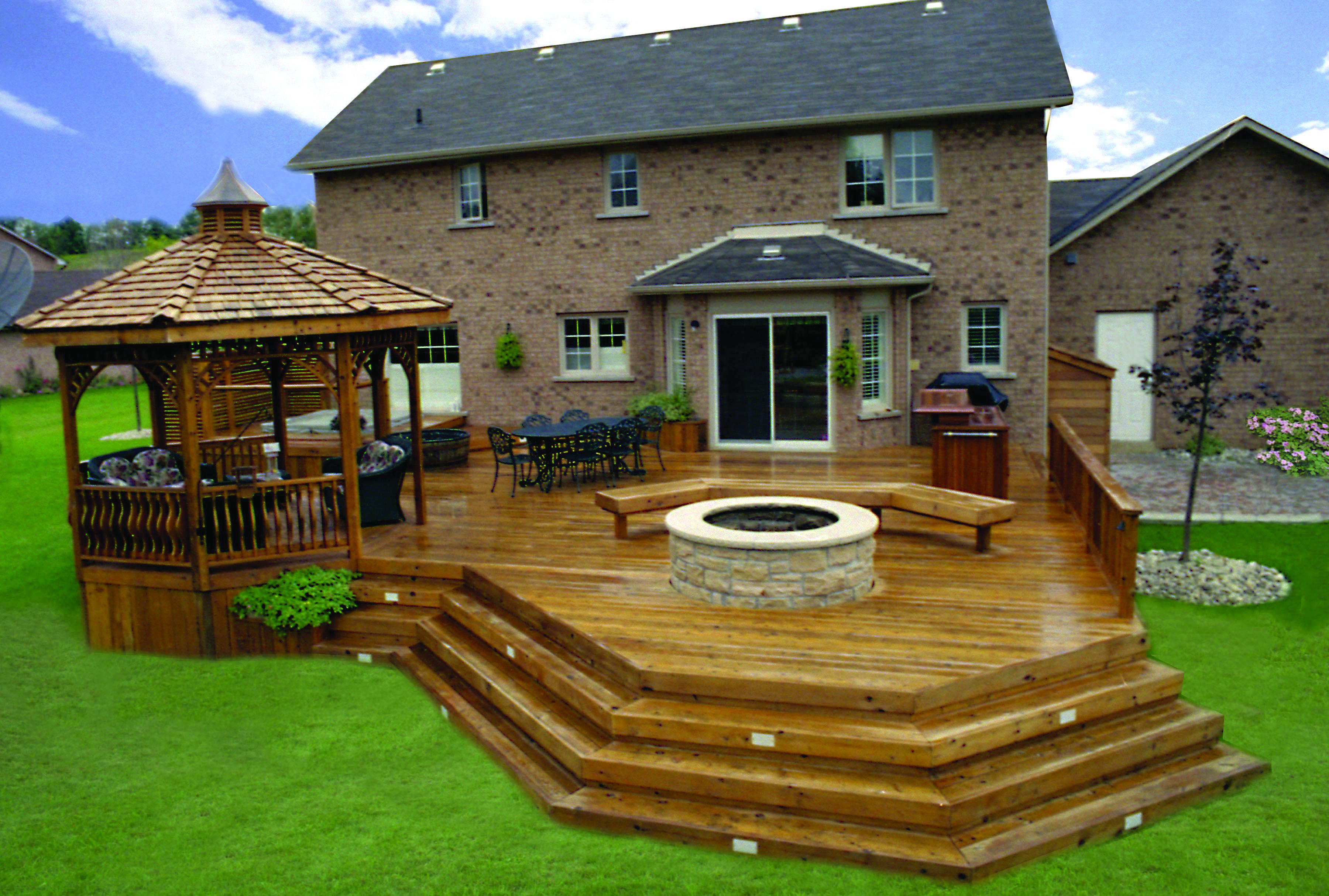 10 Beautiful, Easy DIY Backyard Decks - Homes Tre | Decks ... on Diy Back Deck Ideas id=36142