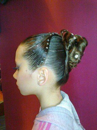 Ballroom Hair For Kid Dancesport Hair And Makeup Pinterest