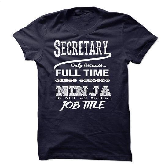 Ninja Secretary T-Shirt - #simply southern tee #cute hoodie. CHECK PRICE => https://www.sunfrog.com/LifeStyle/Ninja-Secretary-T-Shirt-49152289-Guys.html?68278