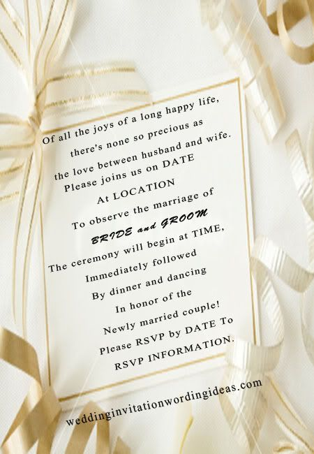 fairytale wedding invitation wording Very cute fitting if the