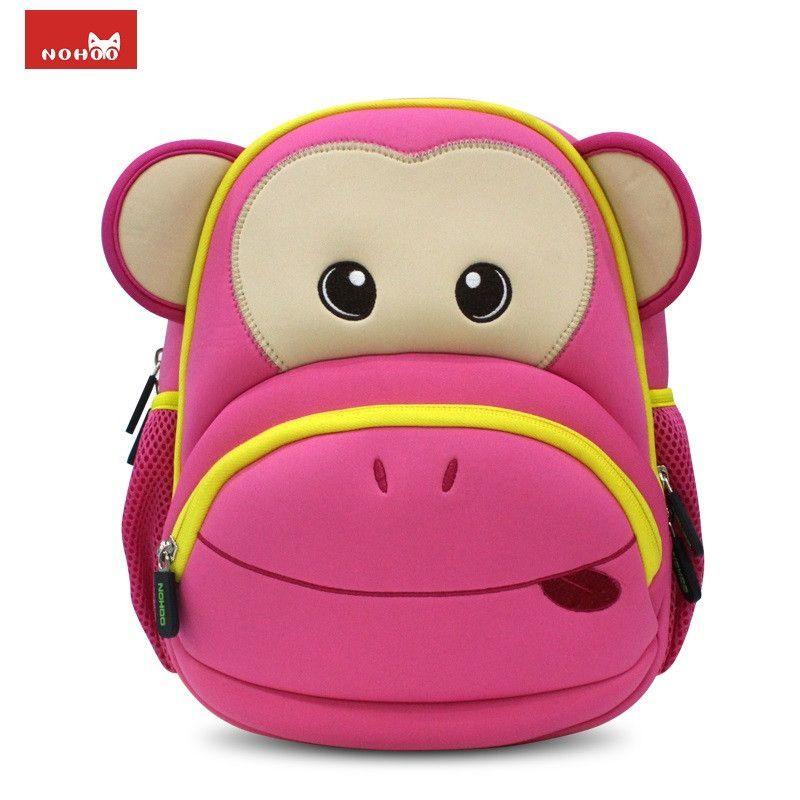 Nohoo Monekey Fashion Small Backpack For Children Waterproof Monkey