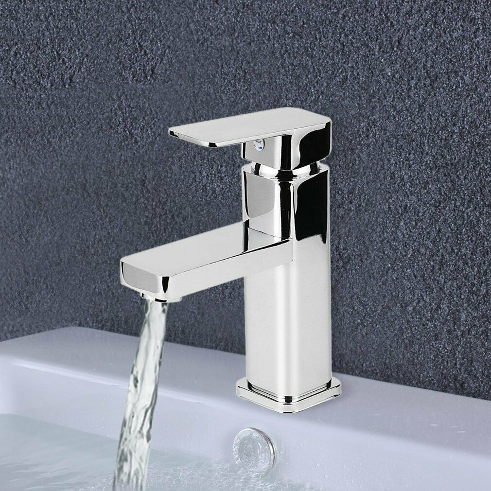Square Bathroom Kitchen Laundry Basin Sink Mixer Faucet Tap Wels