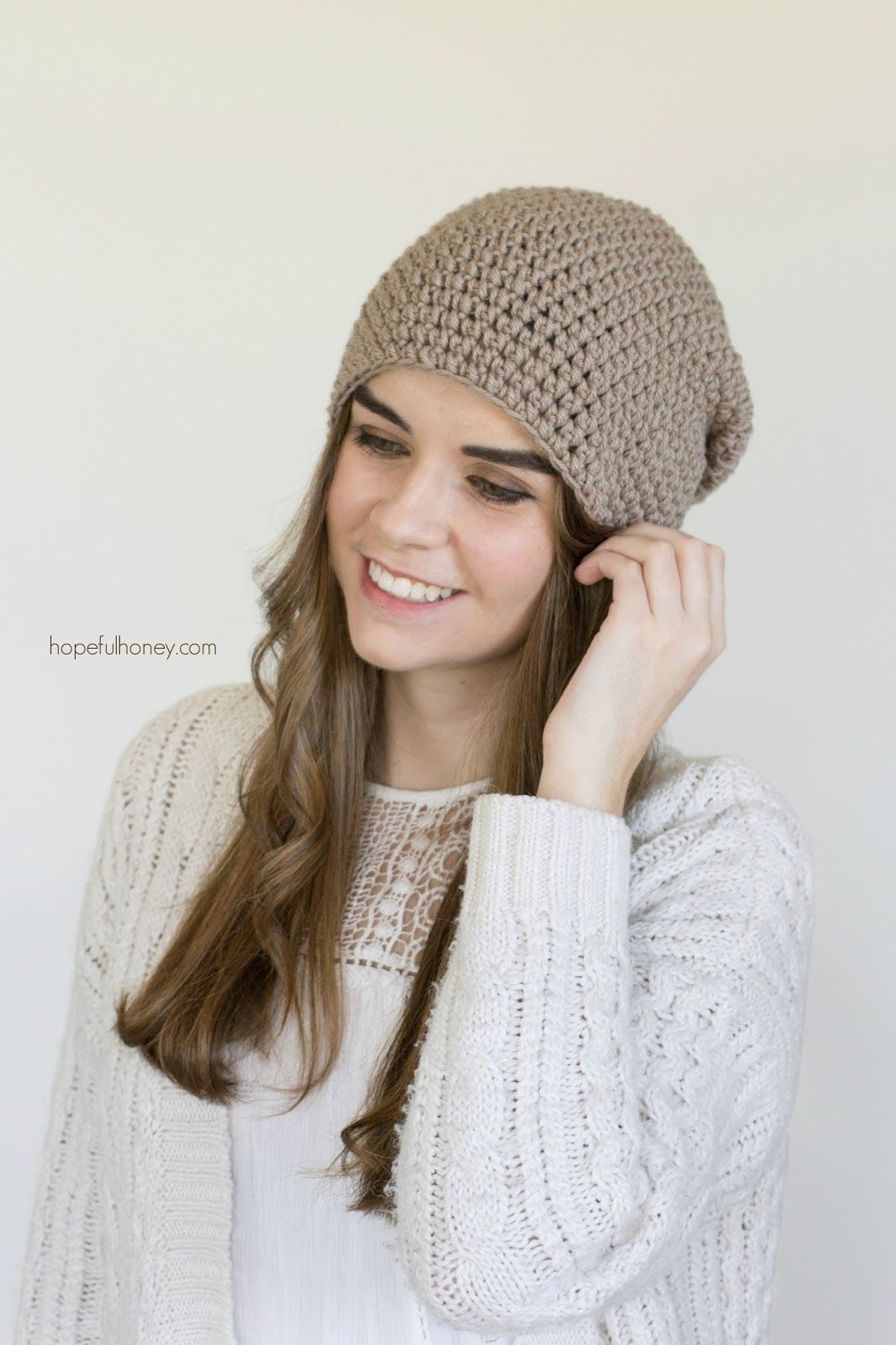 Toasted Wheat Slouchy Beanie - Free Crochet Pattern | Gorros, Hilo y ...