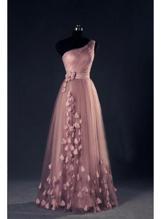 568be63ec53 One Shoulder A Line EveningDresses Flower Appliques Lace-up Elegant Prom  Gowns - Products - 27DRESS.COM