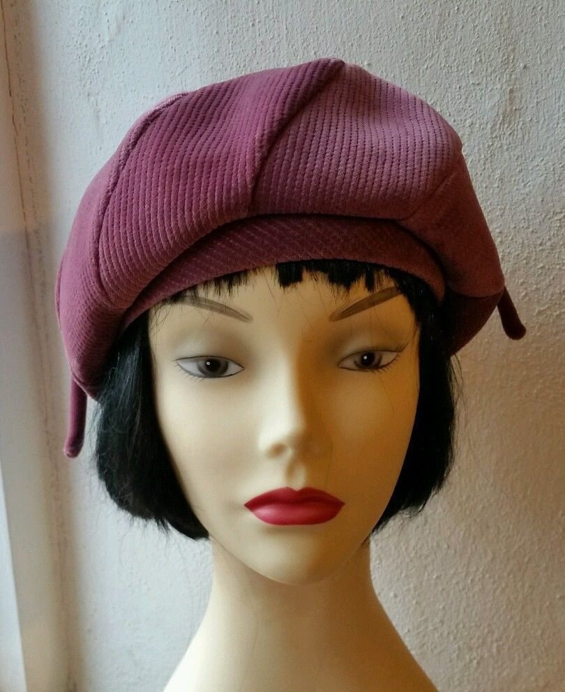 5f771e85507df9 ViNtAgE 60s 70s KANGOL asymmetric Velvet Beret Berret cloche hat dusky pink  22 @£11.99