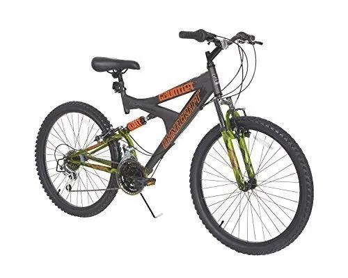 Dynacraft Gauntlet Boys Dual Suspension 21 Speed Bike Gray 24