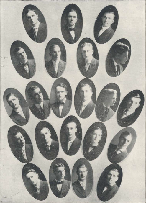 Sigma Nu fraternity 1908-09.  From the 1910 Oregana (UO Yearbook).  www.CampusAttic.com
