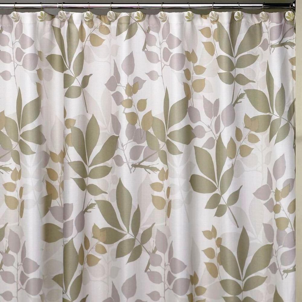 Creative Bath Shadow Leaves 72 In Botanically Themed Shower