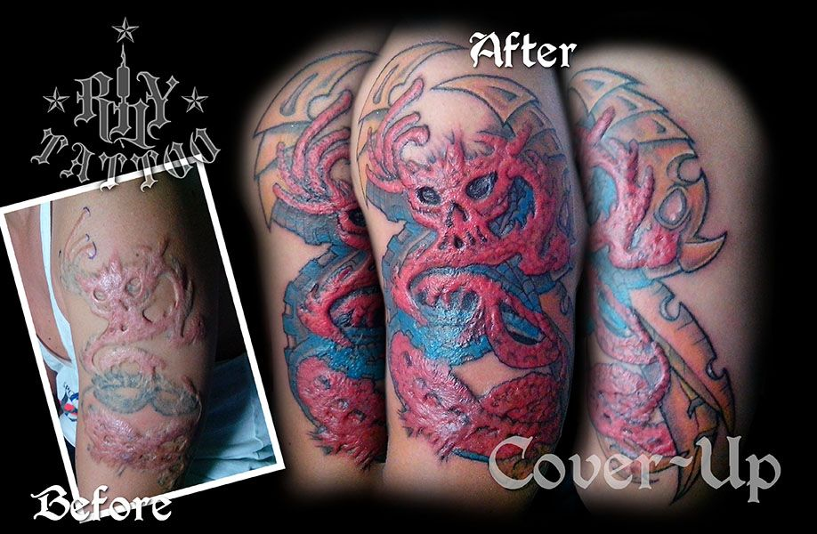 My First Ever Keloid Extreme Cover Up Tattoo Rhy Tattoo Worx