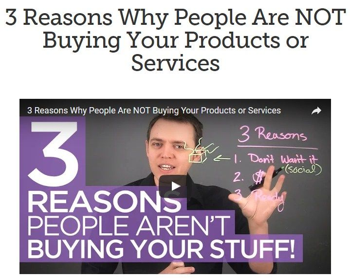 3 Reasons Why People Are NOT Buying Your Products or Services. Learn to earn more!