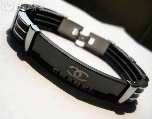 New Fashion Men S Black Stainless Steel Bracelet Chain Black Stainless Steel Bracelet Stainless Steel Bracelet Chanel Men