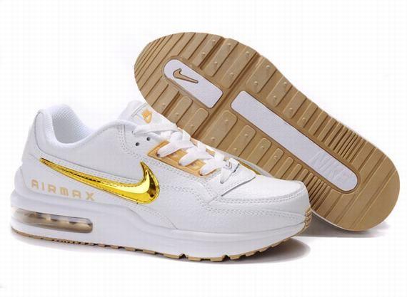exclusive deals dirt cheap super quality Nike Air Max Mens Ltd White And Golden Logo | Nike air max ...