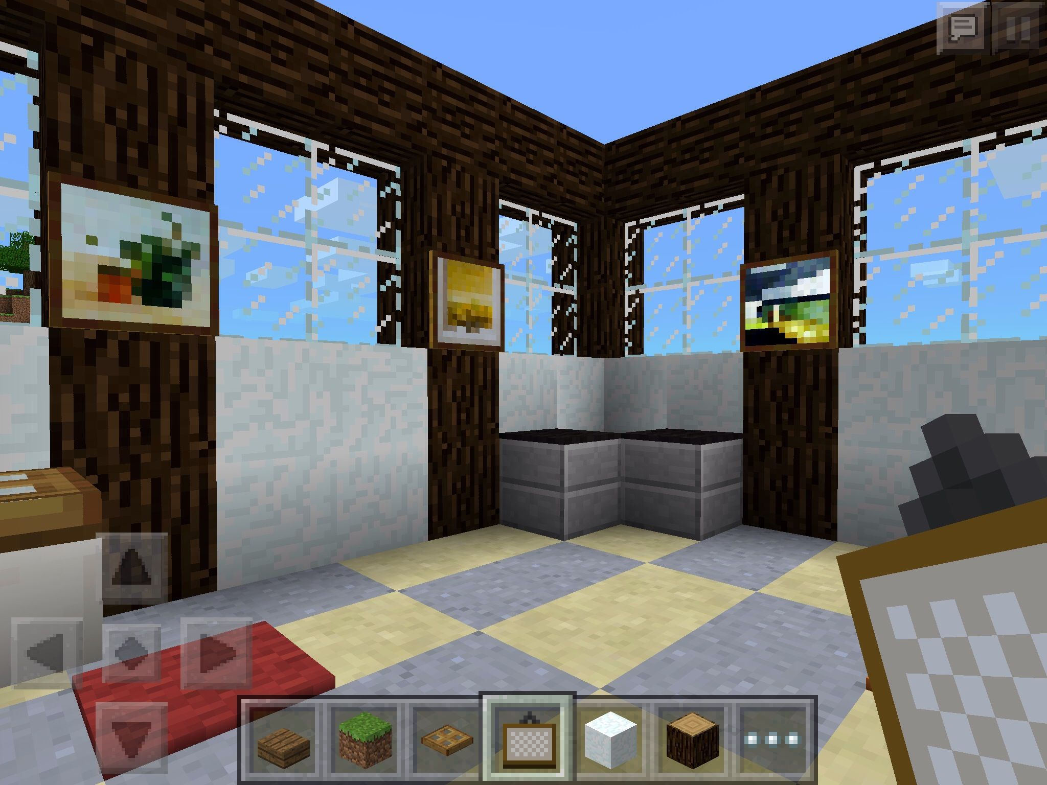 How To Build A Bathroom In Minecraft Pe Edition Minecraft House Designs Minecraft House Tutorials Minecraft Houses Blueprints
