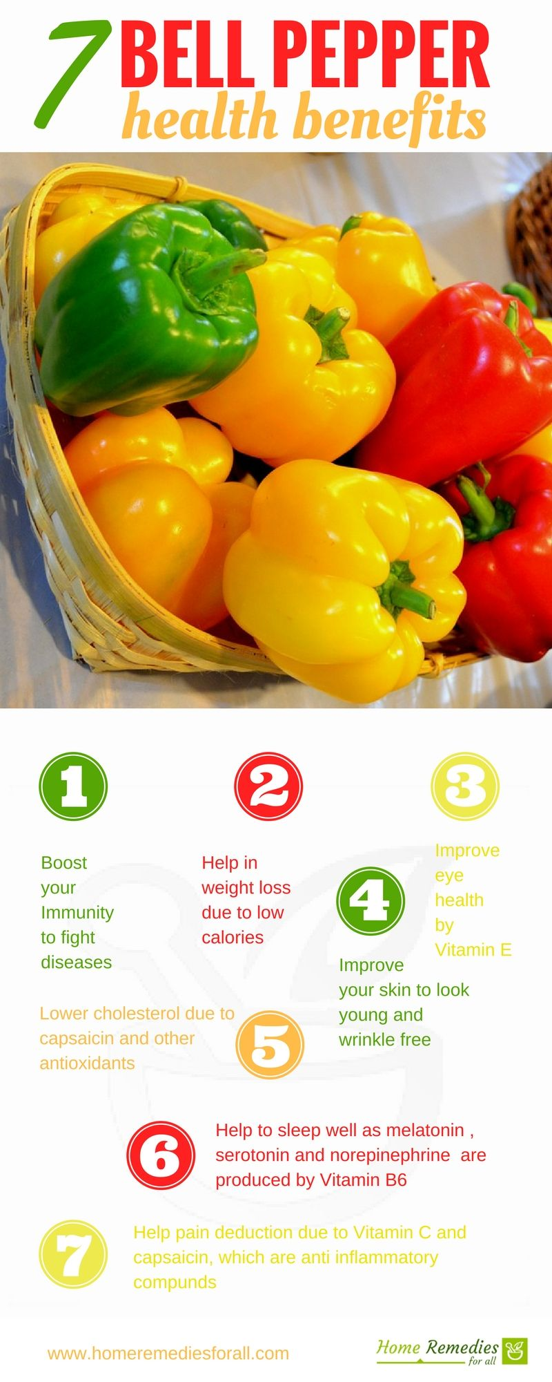 Eat a bell pepper daily as it offers amazing health