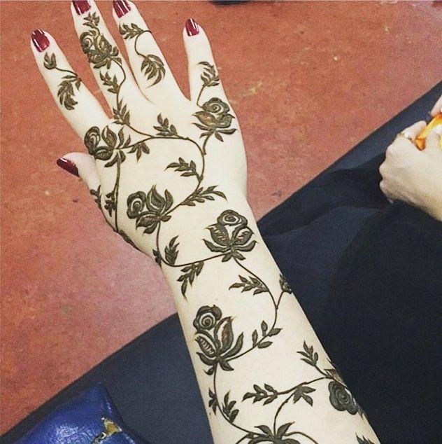 Arabic Henna Design Rose Rose Mehndi Designs Henna Designs Hand Henna Designs