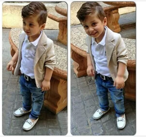 (Buy here: http://appdeal.ru/7qn ) Children Clothing Set Gentleman Clothes Sets Casual Kids Fashion Summer Boutique Kids Clothing White Jeans Outfits 2-8 Years Old for just US $27.99