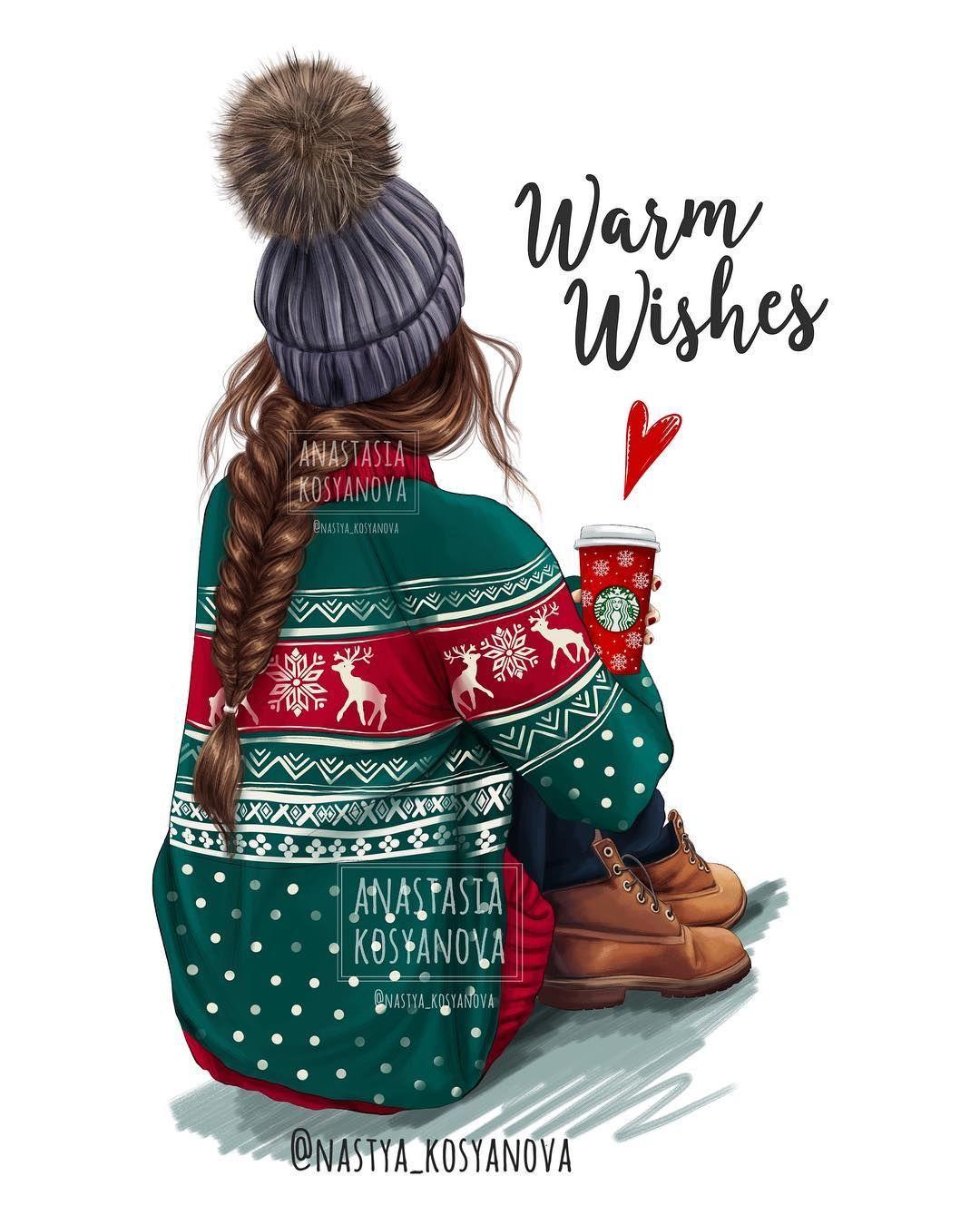 "Анастасия Косьянова on Instagram: ""Warm Holiday Wishes?❤️ Morning guys? CHRISTMAS collection for my shop @daprint_shop Check my site nastyakosyanova.com (link in BIO)…"""