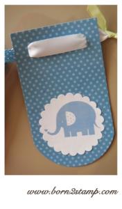 Elefantenparty Girlande elephant party decoration