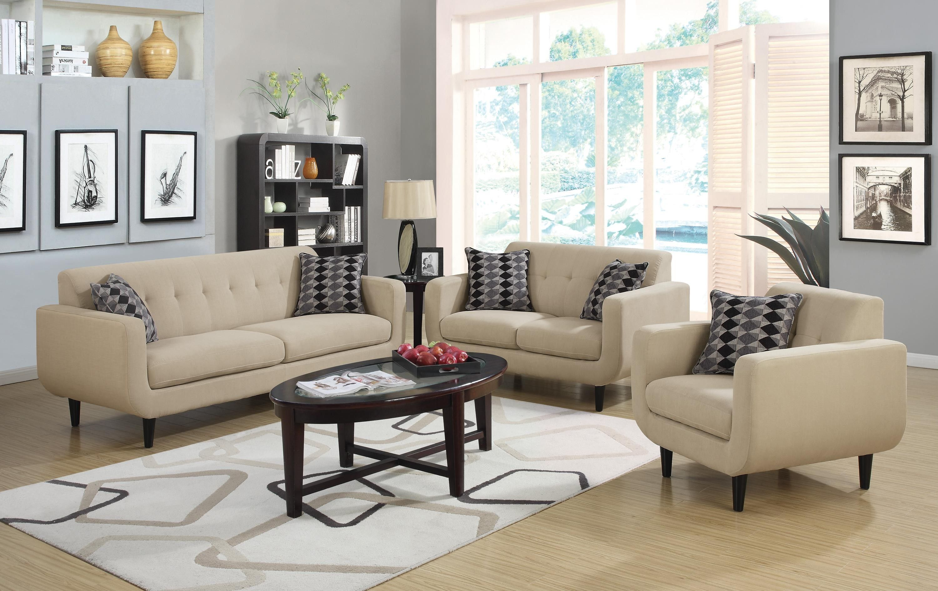 STANSALL IVORY SOFA COLLECTION BY COASTER