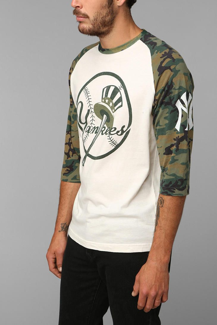 New York Yankees Camo Raglan  59ffa68d5e7