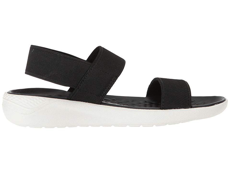 Crocs Literide Sandal Women S Shoes Black White