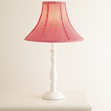 Red gingham lamp shade jcpenney country clutter pinterest red gingham lamp shade jcpenney aloadofball Choice Image