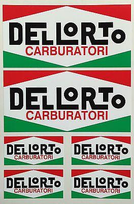 Dellorto Carburator Decals Motorbike Scooter Stickers X Ducati - Motorcycle stickersmotorcycle stickers ebay