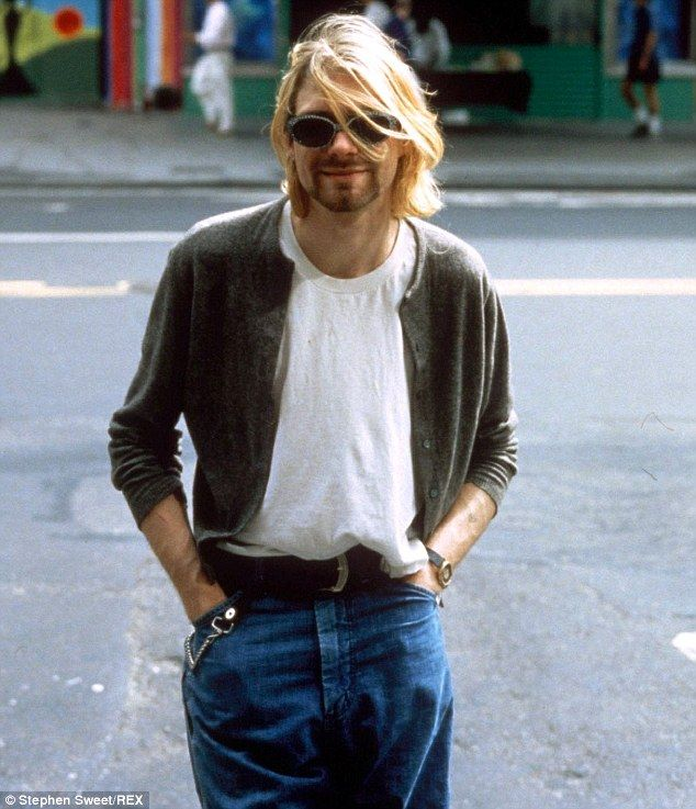 Iconic: Kurt Cobain (pictured) is known for his long, shaggy locks, unshaven face and grunge style