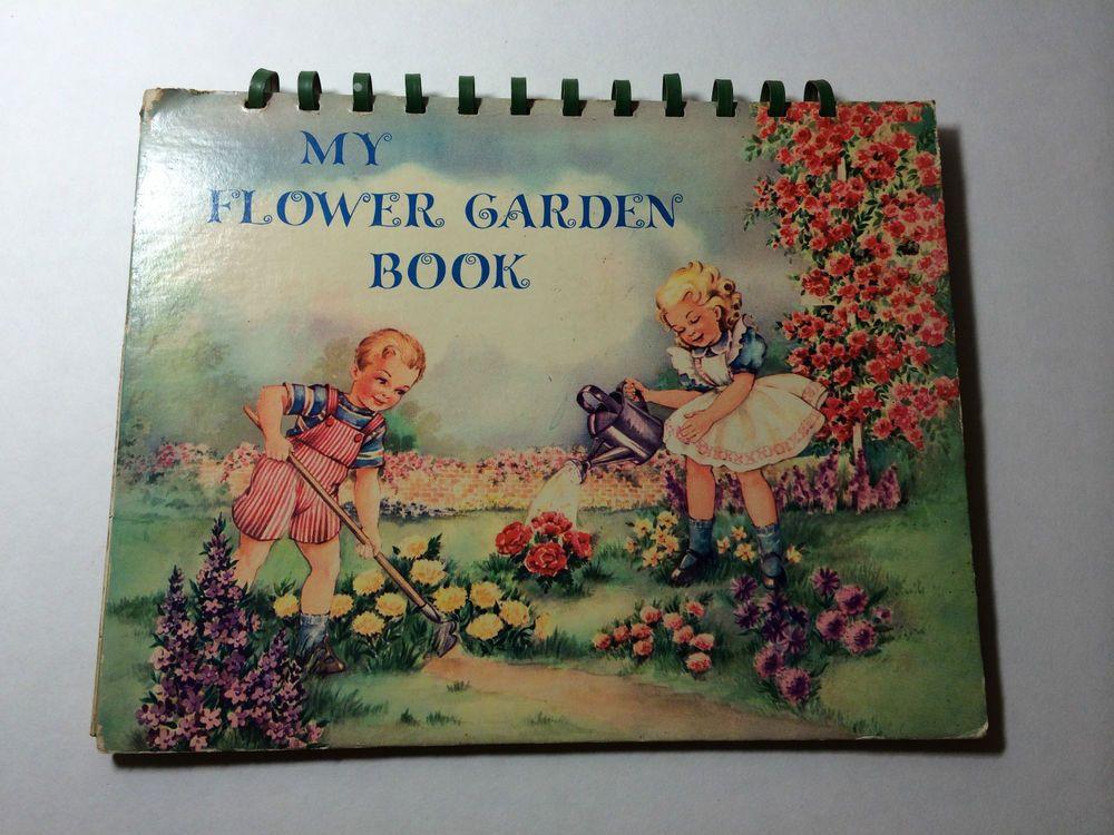 Vintage Children's Pop Up My Flower Garden Book 1940's