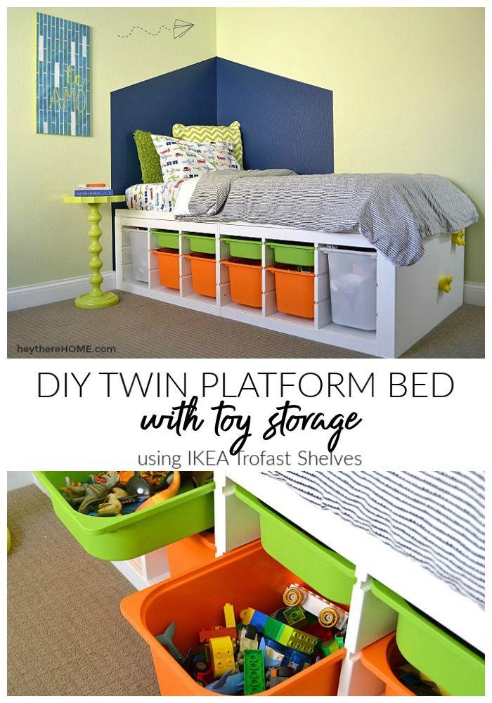 Diy Platform Bed With Storage Diy Platform Bed Kids Platform
