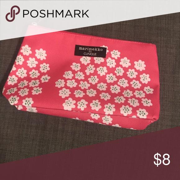 New Clinique Pink Marimekko Makeup Bag Brand New Marimekko