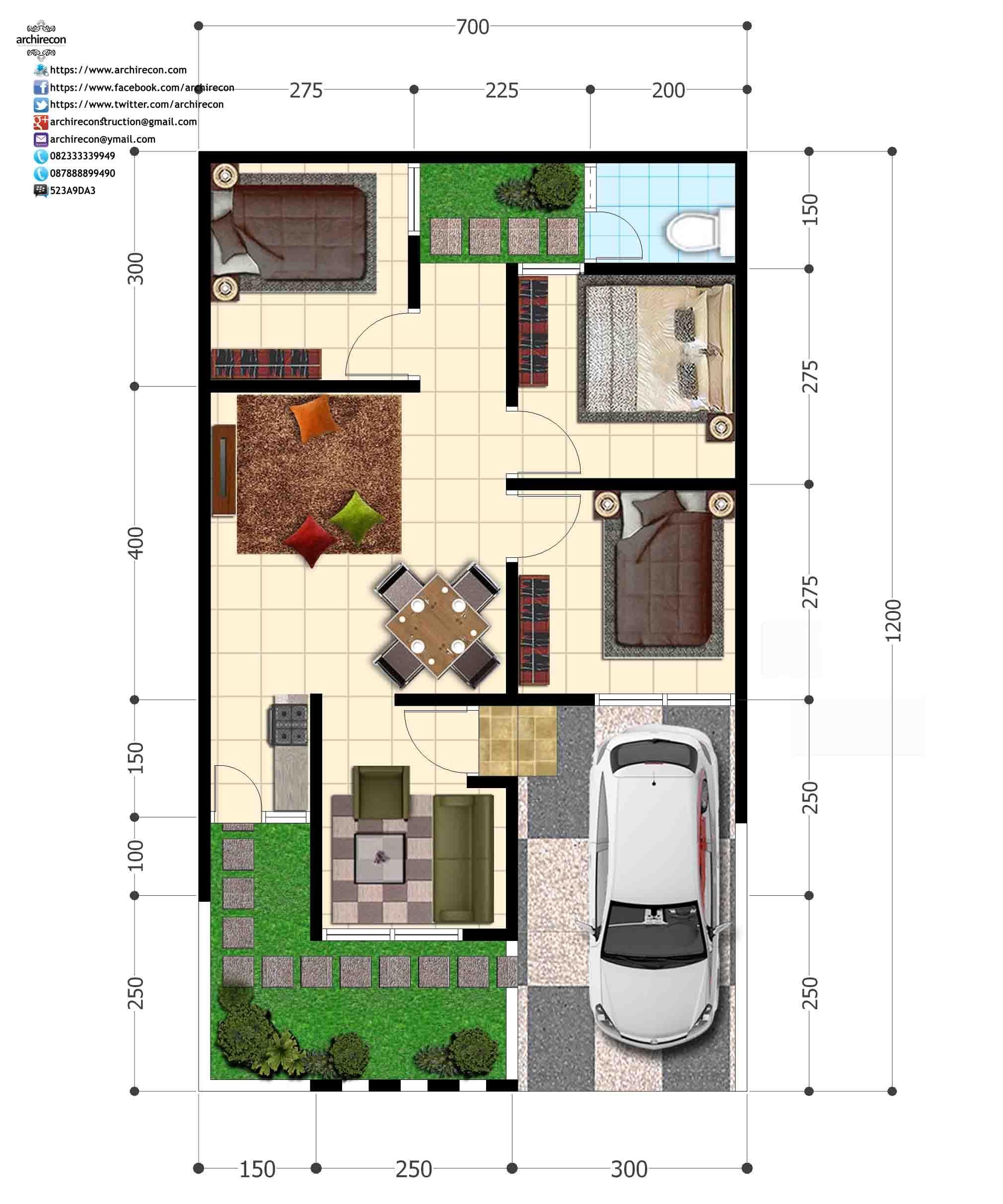 63 Desain Rumah Minimalis Green House Desain Rumah
