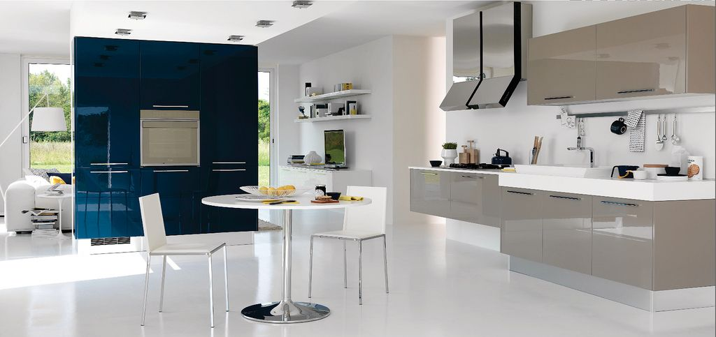 Modern Open Kitchen Design With A Little Touch Of Color KDP Open Kitchen  Designs In Small
