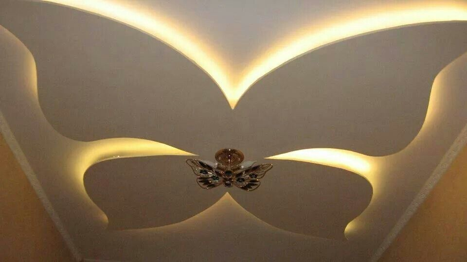 False Ceiling With Butterfly Pinteres