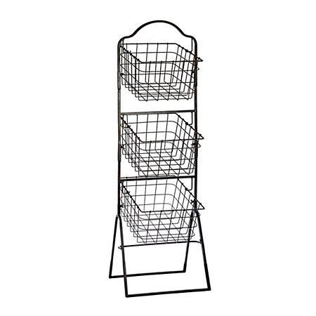 Bronze 3 Tier Metal Basket Tower Metal Baskets Decorative Storage Boxes Decorative Boxes
