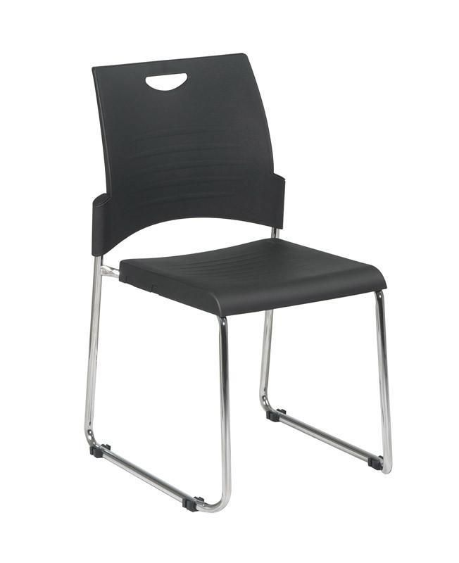 Office Star Work Smart Stc8302c4 3 Straight Leg Stack Chair With