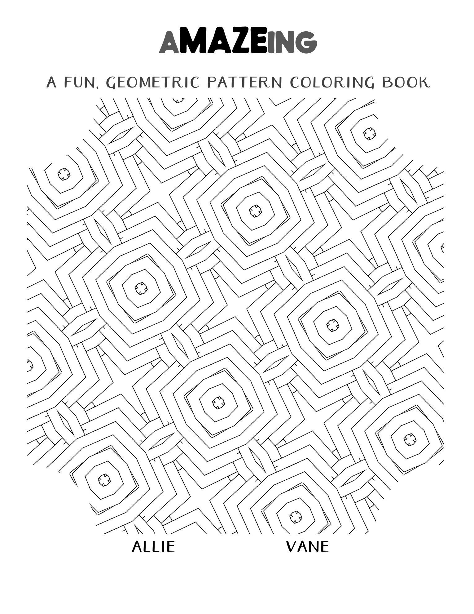 A Maze Ing A Fun Geometric Pattern Coloring Book To Print Out And Enjoy Download Yours Now And Ban Coloring Books Designs Coloring Books Geometric Printable