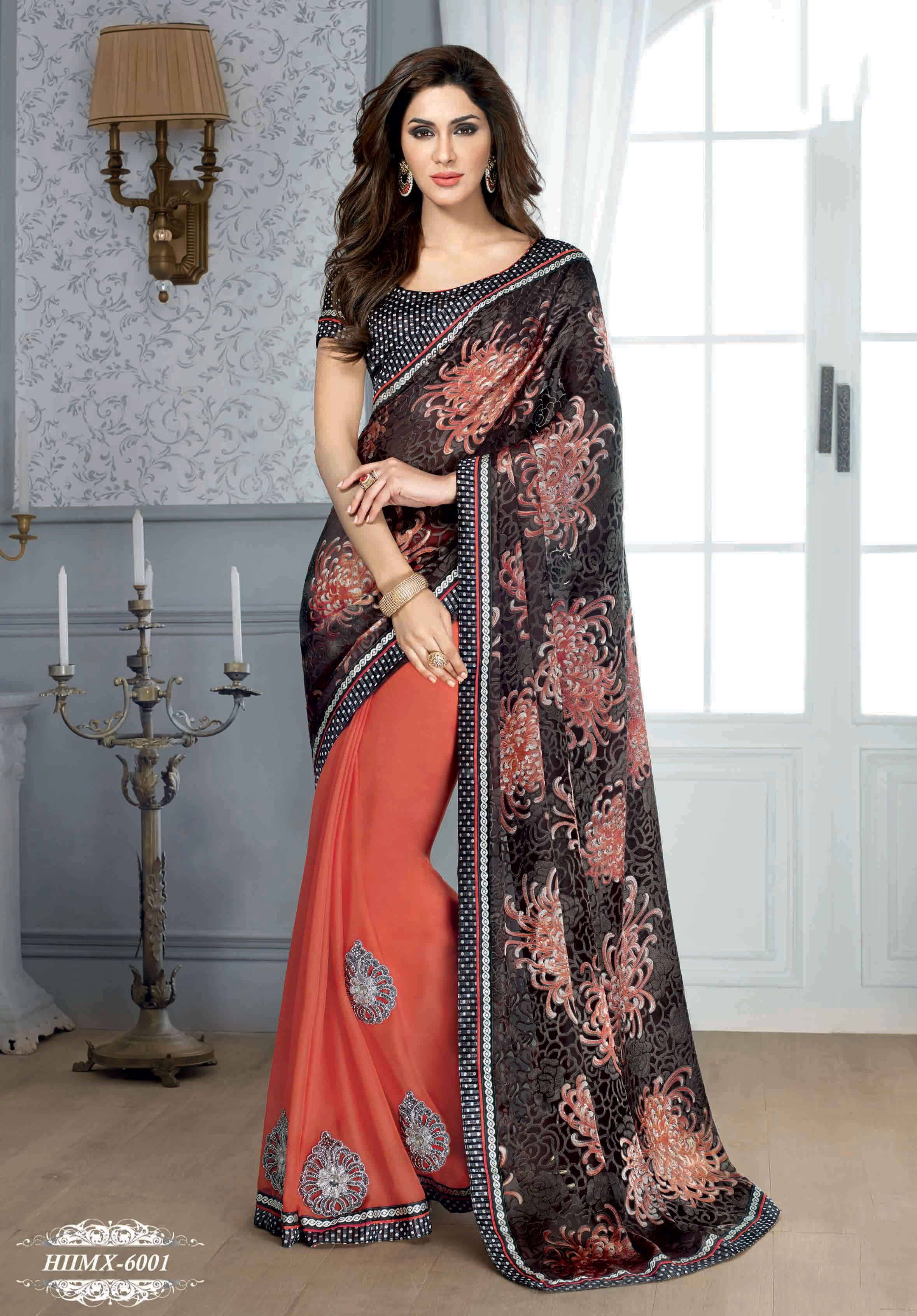 Fashion style Fancy Glamorous designer saree latest collection for woman